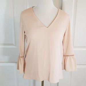 Calvin Klein blush colored blouse